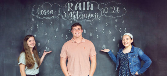 Rain Righteousness chalk board drawing